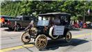 antique car in the 4th of July Parade