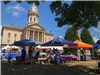 Town Hall Lawn activities and tents during Crazy Days