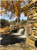 Oliver Mill's Park waterfall & stonework