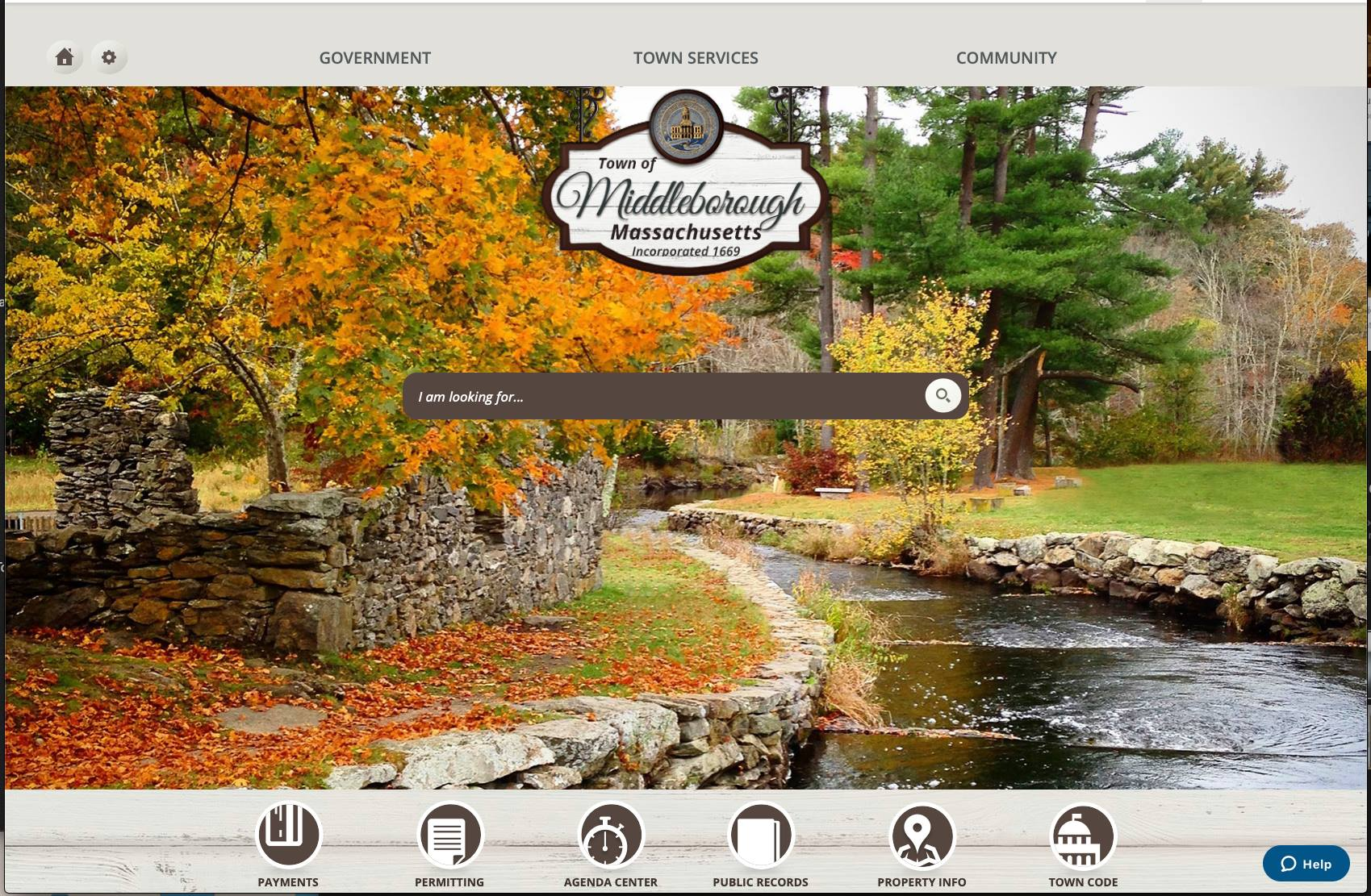image of website homepage
