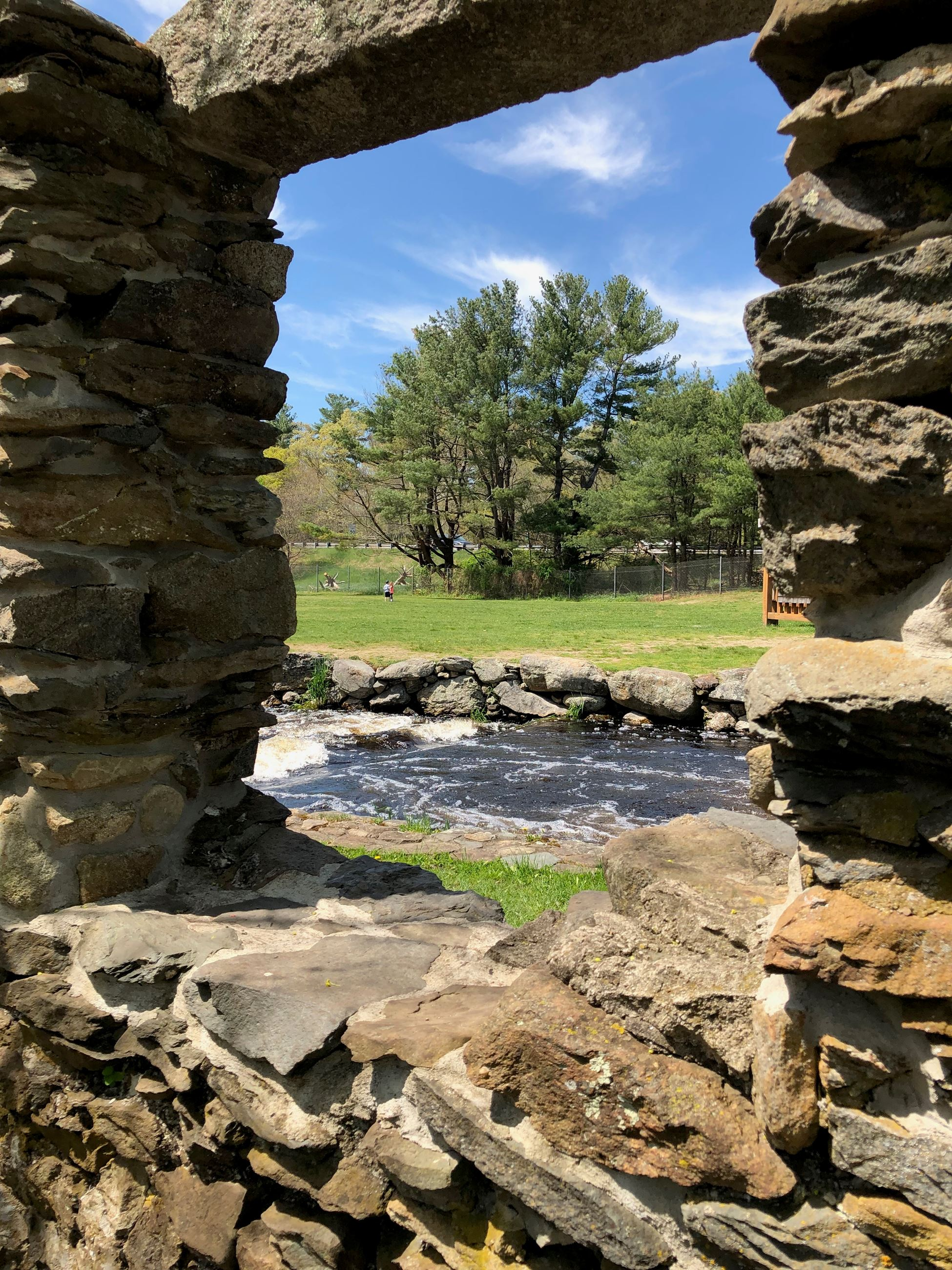 Stone Wall Window at Oliver's Mill Park
