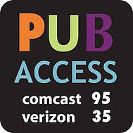 PUBLIC Access Channel logo Comcast 95 and Verizon 35